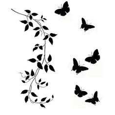 "small butterflies, could use butterflies instead of birds for the quote ""with brave wings she flys."""