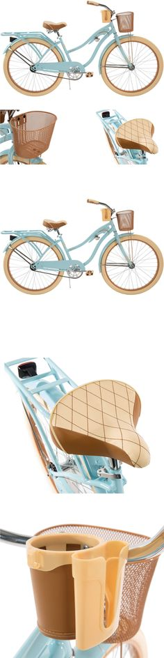 bicycles: Women S Cruiser Bike 26 Inch Beach Bicycle Cycling Basket Comfortable Huffy Blue -> BUY IT NOW ONLY: $156.36 on eBay!