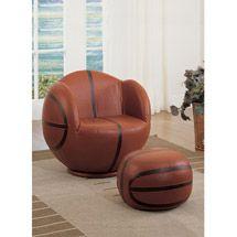 Walmart: Acme All Star Basketball 2-Piece Chair and Ottoman Set