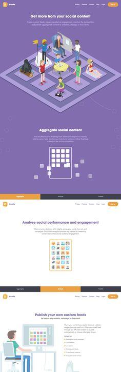 Waaffle (More web design inspiration at topdesigninspiration.com) #design #web #webdesign #sitedesign #responsive #ux #ui