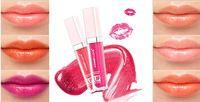Serie rosa hidratante labial brillante bálsamo labial brillante 6piece / lot impermeable del maquillaje líquido del envío Lip Lip Gloss Pen gratuito