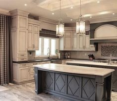 25 Gorgeous Light Cabinets Dark Countertops #ligth #cabinet #dark