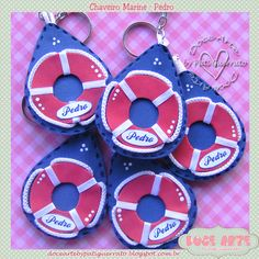 Doce Arte by Pati Guerrato: Chaveirinhos Marine Washer Necklace, Baby Showers, Nautical, Ideas, Sailor Party, Key Chains, Girls, Craft, Diapers
