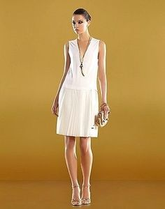 6573c970e1a7 Gucci White $1795 New Runway Size M 291957 Dress. Free shipping and  guaranteed authenticity on