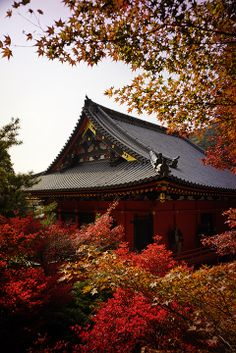 Bishamon-do temple in Kyoto, Japan 毘沙門堂