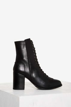 Nasty Gal Gully Lace-Up Leather Boot