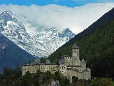 Taufers Castle at Sand in Taufers (Campo Tures), South Tyrol, Italy