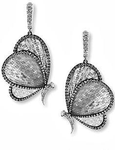 Titanium fiber Butterfly Earrings.  Photo courtesy of BOGH-ART