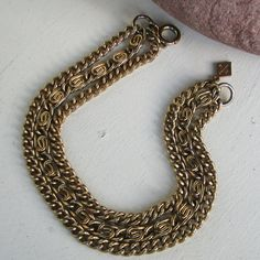 Vintage Sarah Coventry  Gold Tone Tri-Strang 3 by Unicoins on Etsy