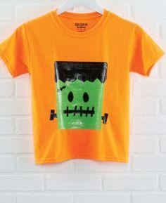 DIY Easy Duck Tape® Frankenstein T-Shirt