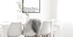 Genuine sheepskin rug and reindeer skin decoration - MILABERT