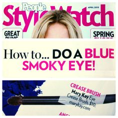 People StyleWatch recommends using the Mary Kay® Eye Crease Brush with blue eye shadow (we like Mary Kay Mineral Eye Color in Peacock Blue) for a new spin on the classic smoky eye!