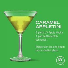 Shake with ice and strain into a martini glass. Uv Vodka Recipes, Alcohol Drink Recipes, Martini Recipes, Cocktail Recipes, Punch Recipes, Non Alcoholic Drinks, Bar Drinks, Cocktail Drinks, Vodka Cocktails