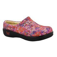 Alegria Kayla Professional Casual Wedge Clog Shoe  Flora Fiesta  Womens  40 >>> Click affiliate link Amazon.com on image for more details.