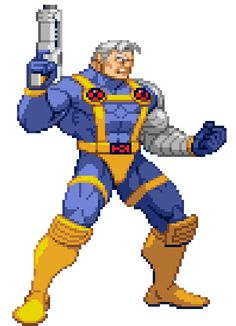 Cable animation from Marvel vs Capcom Art Of Fighting, Fighting Games, Street Fighter Tekken, Pixel Life, Batman Vs Superman, Spiderman, Super Street Fighter, Pixel Animation, Retro Gamer
