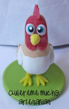 GALLO BARTOLITO SOUVENIR PORCELANA FRIA Clay Figures, Air Dry Clay, Photo Displays, Yoshi, 2nd Birthday, Cake Toppers, My Design, America 2, Christmas Ornaments