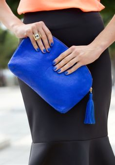 We love bright luxe Clare Vivier handbags - Just arrived at PERCH!