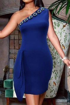 Cheap Dresses, Elegant Dresses, Blue Dresses, Latest Fashion Clothes, Fashion Outfits, Cheap Fashion, Fashion Trends, Sexy Party Dress, Jumpsuits For Women