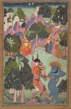 Demons Fighting Over an Animal Limb, late 17th century. Indian. The Metropolitan Museum of Art, New York. Gift of Doris Rubin, in memory of Harry Rubin, 1989 (1989.236.3) #Halloween