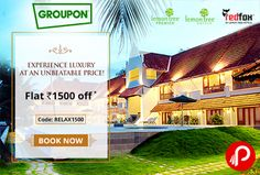 Groupon Holiday Sneak Peak offers Flat Rs.1500 off on Lemon Tree Hotels across india.  http://www.paisebachaoindia.com/get-flat-rs-1500-off-on-lemon-tree-hotels-groupon/