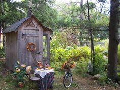 Call the charm police! These garden sheds are so cute, they make you want to die.
