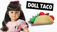 How to make a Doll Taco - Super Easy doll Crafts