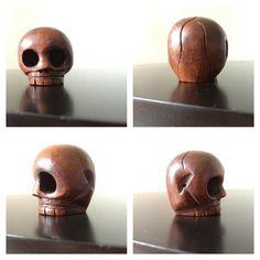 Hand Carved Wooden Mexican Skull Bead by nickysnicknackshack, $12.00