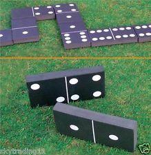 GIANT DOMINOES GARDEN PATIO OUTDOOR GAME FOR ADULTS & KIDS CHILDREN SUMMER FUN