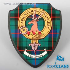 Large Printed Davidson Clan Plaque. Free worldwide shipping available