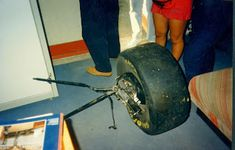 Ayrton Senna's Williams front wheel after his tragic accident S Williams, Funny Pictures For Kids, Ferrari F1, Car And Driver, Grand Prix, Race Cars, Auto Racing, Legends, Ayrton Senna