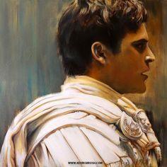 Commodus Acrylic Painting - Ridley Scott's Gladiator Joaquin Phoeni,x 24 x Gladiator Maximus, Gladiator 2000, Joaquin Phoenix, Movies Showing, Movies And Tv Shows, Roman Armor, Joker Pics, Alexander The Great, Movies
