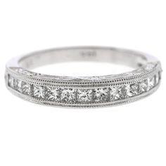 0.75 Cttw F VS Princess Diamonds Wedding Band Anniversary Ring 14K White Gold #Diamonds  #Wedding #Anniversary #Band #Ring #14K #White #Gold #Christmas #Gift