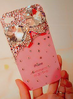 Fancy Phone Calls                                                       I read that Paris Hilton said she had just finished covering her cell phone or case, in pink Swarorski crystals.  And for her, she said that she did many things, so it ws like she had a job, Ha ha. yea right
