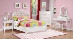 Caroline Youth Bedroom Set with Storage Bed in White Furniture, Twin Size Bedding, White Storage, Pink Bedding, Storage Bed, Bedroom Set, Youth Bedroom, Bed, Coaster Fine Furniture