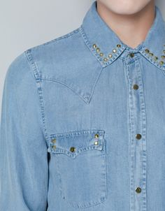 DENIM SHIRT - Shirts - Woman - ZARA United Kingdom £59.99