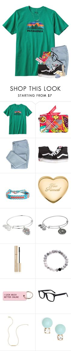 """""""My cousin has thyroid cancer plz be praying😕🙏🏻"""" by southernstruttin ❤ liked on Polyvore featuring Patagonia, Vera Bradley, Vans, Half United, Alex and Ani, Dolce&Gabbana, WithChic, Various Projects, Wish by Amanda Rose and Kate Spade"""