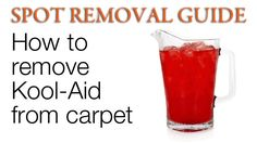 Remove Kool aid from Carpet | How to get red Stains out of Carpet
