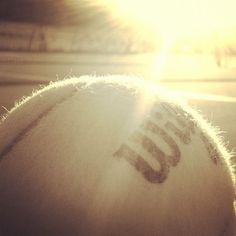 Playing tennis until the sun goes down. #tennis #summer