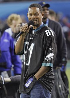 Will Smith cheers on the Philadelphia Eagles