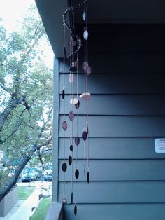 This is a wind chime I made from my smooshed pennies.