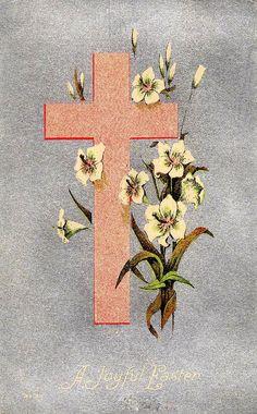 Krzyż wielkanocny w stylu vintage