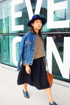 Photo by Amanda Bransgrove, at New Zealand Fashion Week denim jacket, style, fashion Love Fashion, Style Fashion, Jacket Style, Catwalk, Amanda, Trainers, Hipster, Denim, Portrait