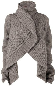 Phase Eight Chunky Cable Cardigan, Oatmeal Interesting.  Good piece for work in the winter.
