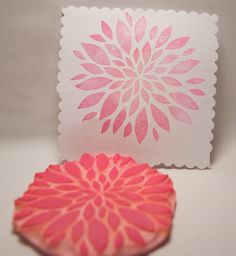 Blooming Flower Petal Rubber Stamp Hand Carved for by PoshBinky, $13.00