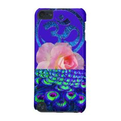 Mystical peacock cell iphone cover with pink rose and blue om sign,. Really exceptional! avail all iphone types
