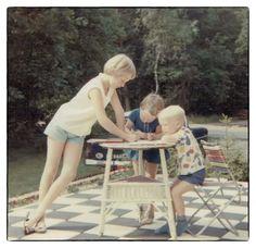 Vakantie in Ede in 1966. Colors