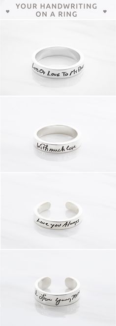 Custom handwriting rings  • Custom handwriting ring • Engraved handwriting rings • Handwriting jewelry • Personalized handwriting jewelry • Memorial jewelry • Personalized anniversary gift • Going away gifts for friends • Best friend gift • great engagement gifts • best engagement gifts for couples • good engagement gifts • christmas gifts for mom • christmas gift ideas for mom • gift for mother • christmas gift ideas for mother in law