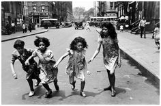 """In 1936, Helen Levitt found a medium for her """"unconscious obsession:"""" she began photographing children's play in the streets of her native New York City."""