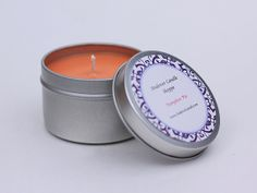 Soy Candle Pumpkin Pie Scented Soy Candle by AndoverCandleShoppe, $6.50