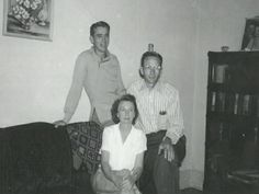 James Dean as a teenager with his father, Winton and his step mother, Ethel.